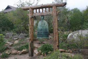 Bell at the Vedanta Temple in Santa Barbara